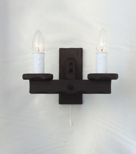 Rustic Pull Switch Wall Lights